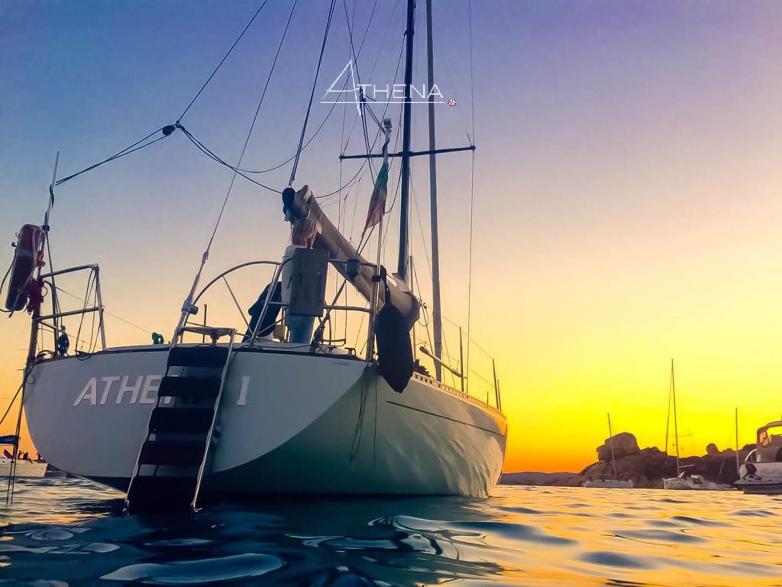 Sosta bagno al tramonto - Cala Corsara - isola Di Spargi
